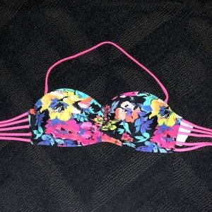 Xhilaration Swim - Xhilaration floral bikini top